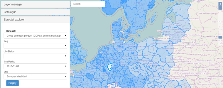 Experimentation with RDF data from Eurostat and their visualisation in HSLayers NG