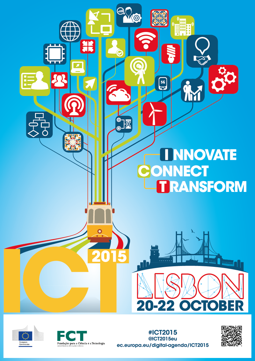SDI4Apps at ICT 2015 in Lisbon