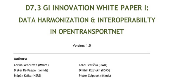 WHITE PAPER I: Data Harmonization & Interoperability in OpenTransportNet